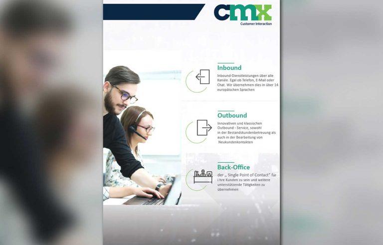 Stranica 2 od mini brosurata za kompanijata CMX - Graficki dizajn, Страница 2 од мини брошурата за компанијата ЦМХ - Графички дизајн
