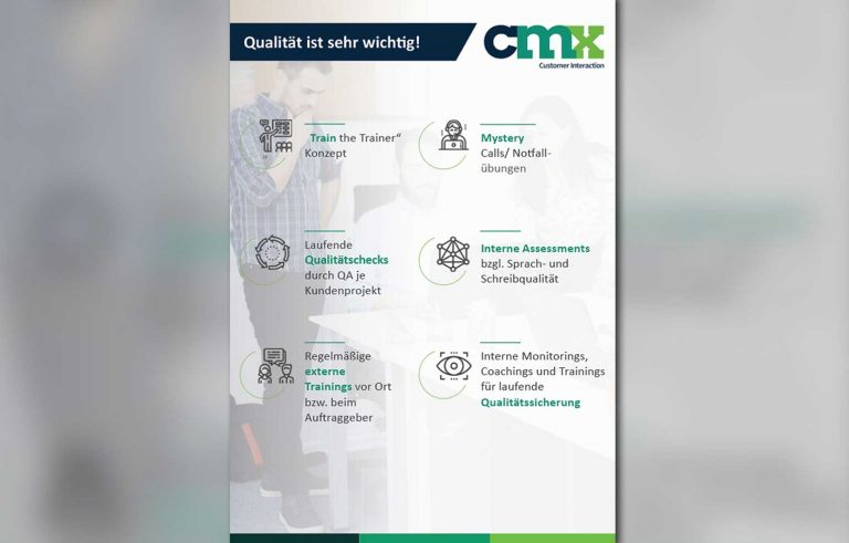 Stranica 1 od mini brosurata za kompanijata CMX - Graficki dizajn, Страница 1 од мини брошурата за компанијата ЦМХ - Графички дизајн