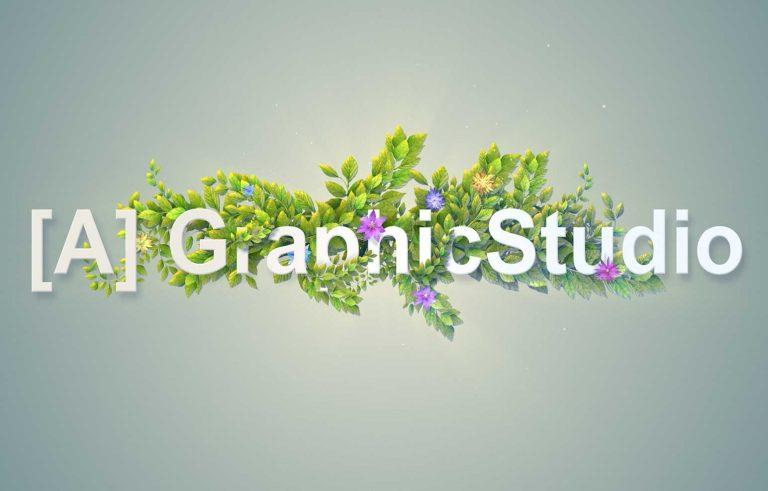 Cvetno logo na A Graphic Studio - Graficki dizajn, Цветно лого на Александар графичко студио - Графички дизајн