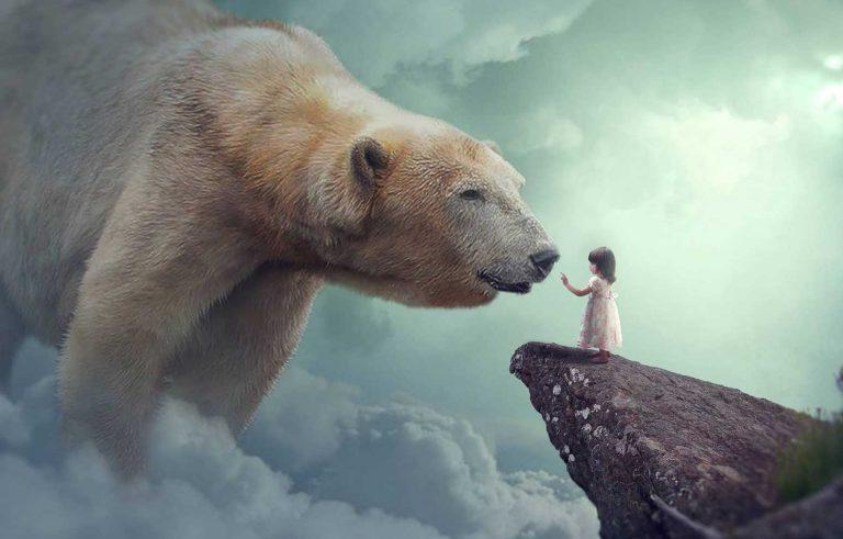 Polarna mecka i malo devojce - Graficki dizajn, Поларна мечка и мало девојче - Графички дизајн