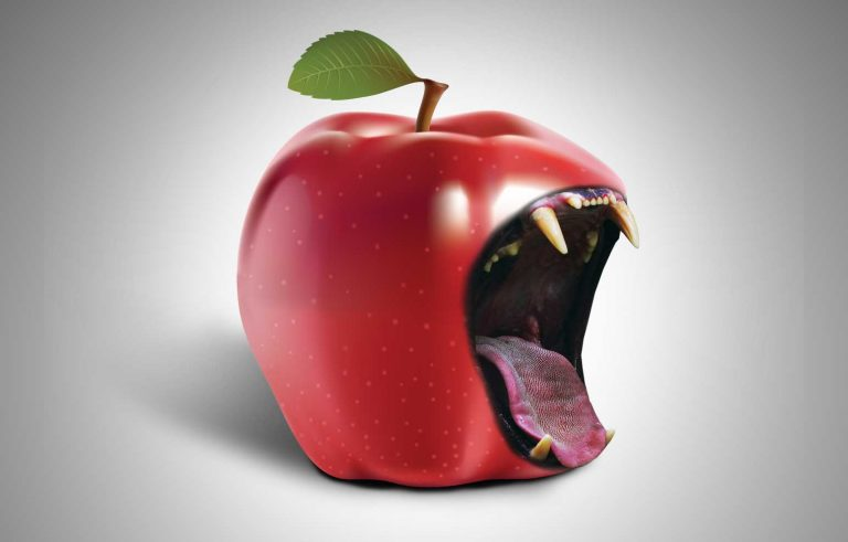 Pola jabolko, pola usta od lav - Graficki dizajn, Пола јаболко, пола уста од лав - Графички дизајн
