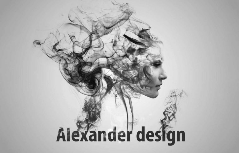 Art Studio logo so cad i lik - Graficki dizajn, Арт Дизајн Студио лого со чад и лик - Графички дизајн